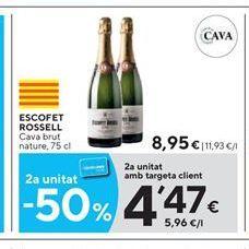 Oferta de Cava brut Escofet Rossel por 8.95€