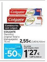 Oferta de Dentífrico Colgate por 2.55€