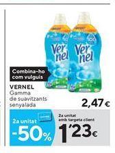 Oferta de Suavizante Vernel por 2,47€