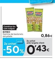 Oferta de Snacks Bimbo por 0.86€