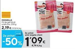 Oferta de Pechuga de pavo Monells por 2.19€