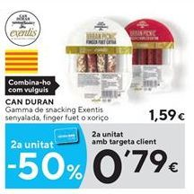 Oferta de Snacks Can Duran por 1.59€