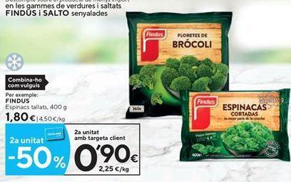 Oferta de Espinacas Findus por 1,8€