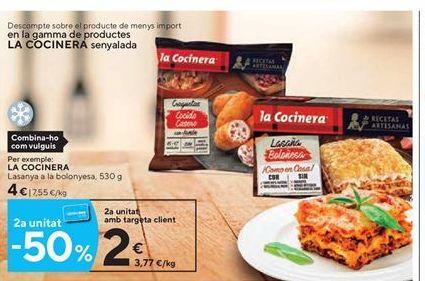 Oferta de Lasaña boloñesa La Cocinera por 4€