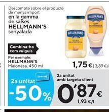 Oferta de Mayonesa Hellmann's por 1.75€
