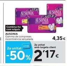 Oferta de Compresas Ausonia por 4.35€