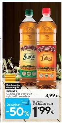 Oferta de Aceite de oliva Borges por 3.99€