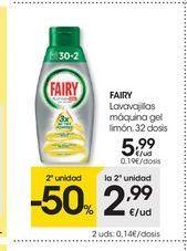 Oferta de Detergente lavavajillas Fairy por 5.99€