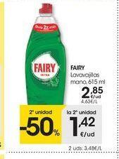 Oferta de Detergente lavavajillas Fairy por 2.85€