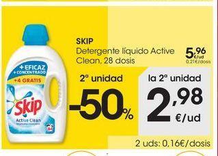 Oferta de Detergente líquido Skip por 5.96€