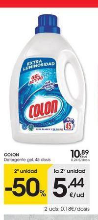 Oferta de Detergente gel Colon por 10.89€