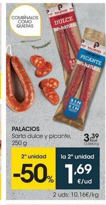 Oferta de Embutidos Palacios por 3.39€