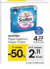 Oferta de Papel higiénico Scottex por 4.22€