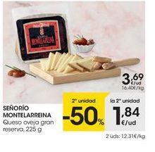 Oferta de Queso de oveja Señorío de Montelareina por 3.69€