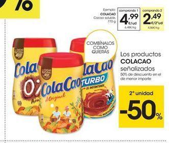 Oferta de Cacao soluble Cola Cao por 4.99€