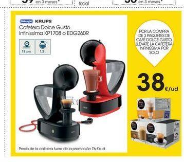 Oferta de Cafeteras Krups por 38€