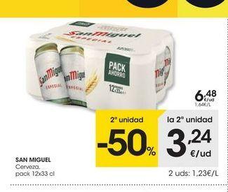 Oferta de Cerveza San Miguel por 6.48€