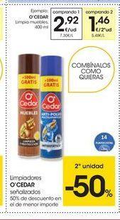 Oferta de Limpiador de muebles O' Cedar por 2.92€