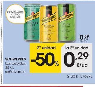 Oferta de Tónica Schweppes por 0.59€