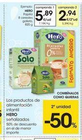 Oferta de Papilla de cereales Hero por 5.89€