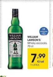 Oferta de Whisky escocés William Lawson's por 7.99€
