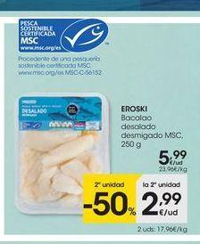 Oferta de Bacalao desmigado eroski por 5.99€