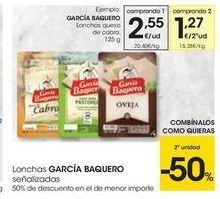 Oferta de Queso en lonchas García Baquero por 2.55€