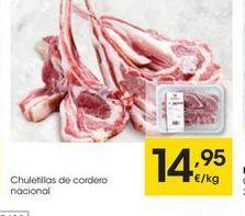 Oferta de Chuletas de cordero eroski por 14.95€