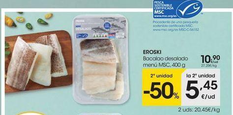 Oferta de Bacalao eroski por 10.9€