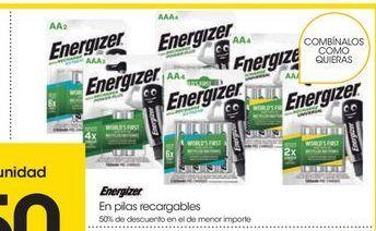 Oferta de Pilas recargables Energizer por
