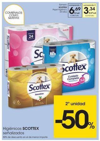 Oferta de Papel higiénico Scottex por 6.69€