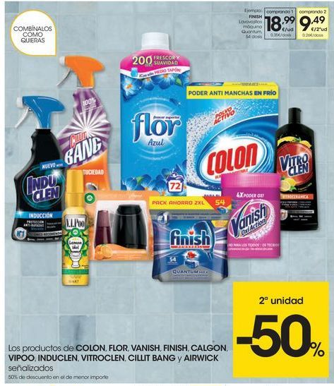 Oferta de Detergente lavavajillas Finish por 18.99€