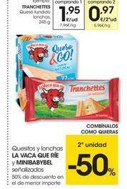Oferta de Queso fundido Tranchettes por 1.95€