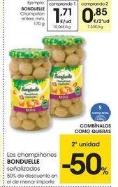 Oferta de Champiñones Bonduelle por 1.71€