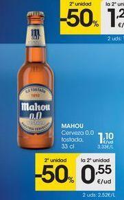 Oferta de Cerveza Mahou por 1.1€