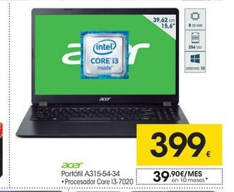 Oferta de Ordenador portátil Acer por 399€
