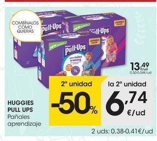 Oferta de Pañales Huggies por 13.49€