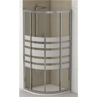 Oferta de Mampara de ducha semicircular Siena de Futurbaño por 187,02€