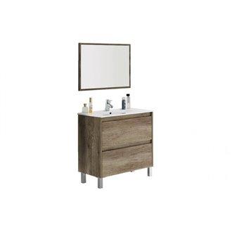 Oferta de Mueble con lavabo y espejo KIT - IBERODEPOT por 166,29€