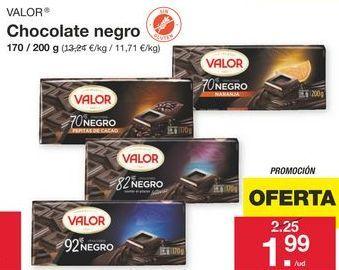 Oferta de Chocolate negro Valor por 1.99€