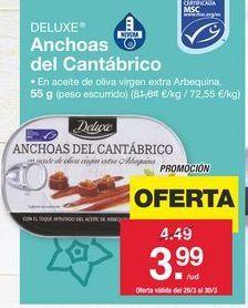 Oferta de Anchoas Deluxe por 3.99€