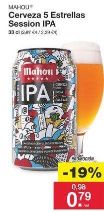 Oferta de Cerveza Mahou por 0.98€