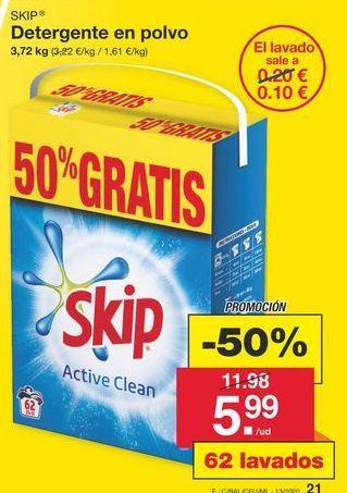 Oferta de Detergente en polvo Skip por 11,98€