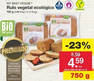Oferta de Comida vegetariana por 5.99€