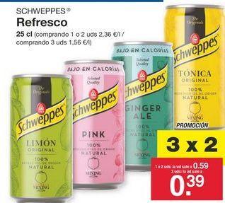 Oferta de Refrescos Schweppes por 0.59€