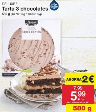 Oferta de Tartas Deluxe por 5.99€