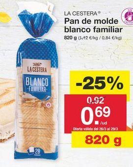 Oferta de Pan de molde La Cestera por 0.92€
