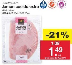 Oferta de Jamón cocido Realvalle por 1.89€