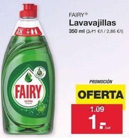 Oferta de Detergente lavavajillas Fairy por 1.09€