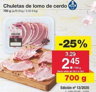Oferta de Lomo de cerdo por 3.29€